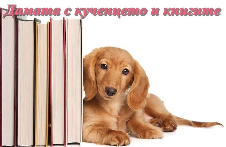 Дамата с кученцето и книгите