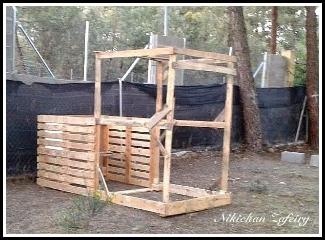 Gallinero paso a paso de madera con palets - Como hacer una casa con palets ...