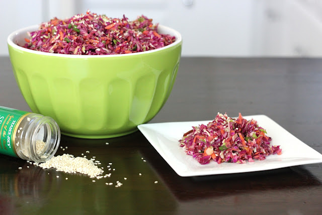 paleo asian cabbage slaw