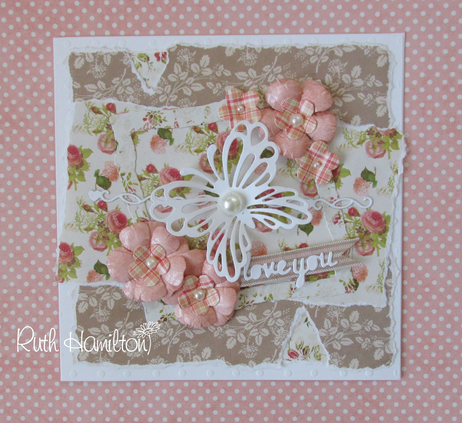 A passion for cards making a shabby chic card with for Shabby romantique