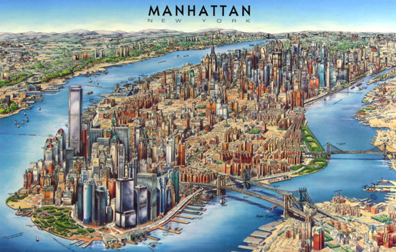Road Map of Manhattan