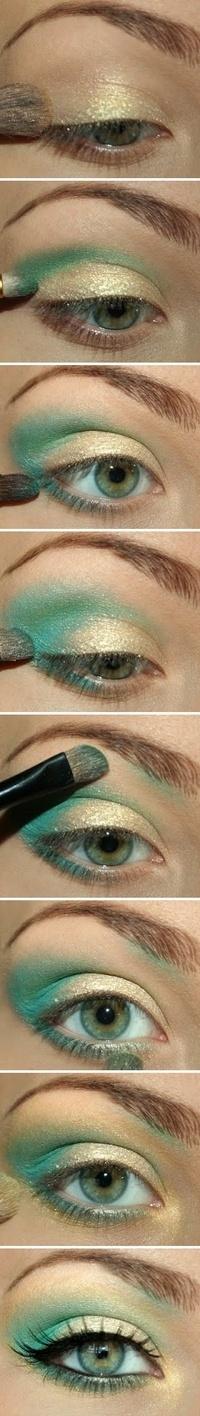 Sue a en grande maquillaje para ojos verde azulados - Colores verdes azulados ...