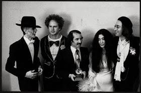 David Bowie, Art Garfunkel, Paul Simon, Yoko Ono e John Lennon