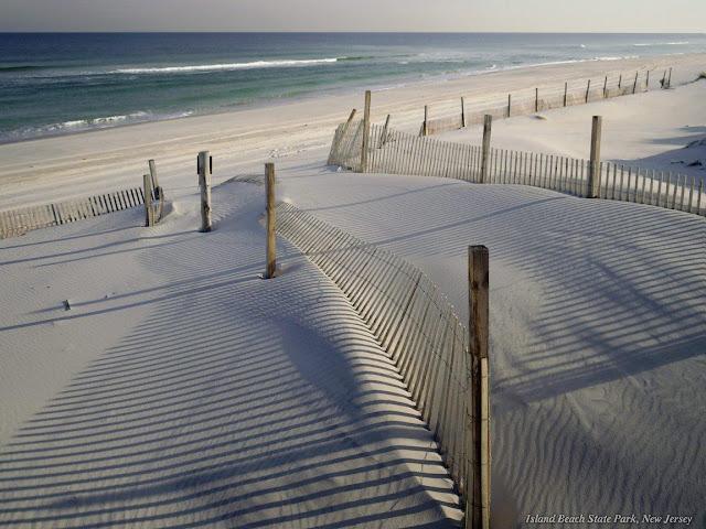beach sand waves serene