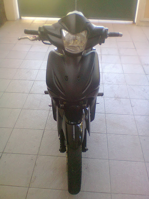 Modifikasi Absolute Revo Racing Look Black Tampak Depan