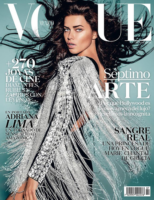 Actress, Model @ Adriana Lima by Russell James for Vogue Mexico, July 2015