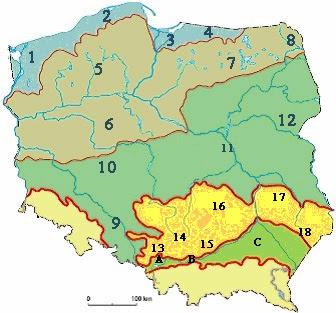 Polska Krainy Geograficzne Powtórka Przed Sprawdzianem