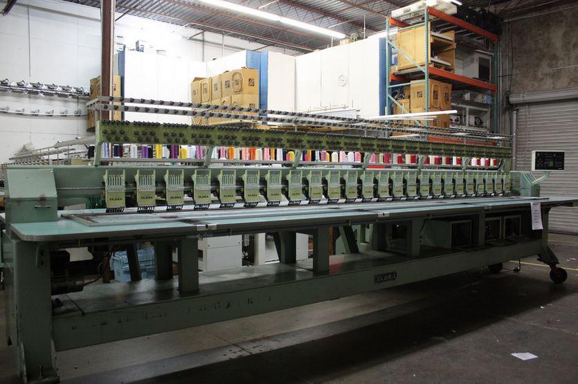 Tajima 24 Head 6 Needle Reconditioned Embroidery Machine For Sale