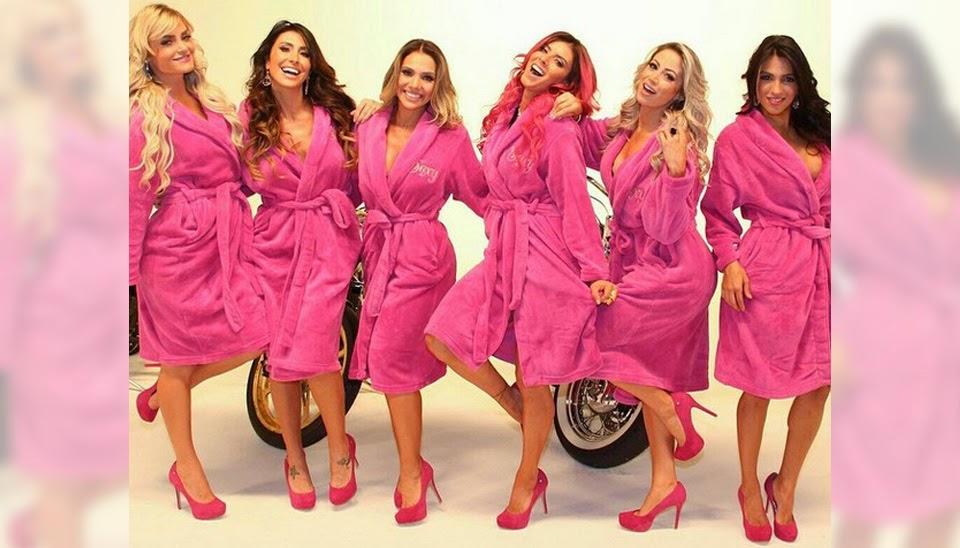 Carol Narizinho, Thaís Bianca, Luana Don e mais gatas tiram a roupa juntas na Sexy; veja fotos.