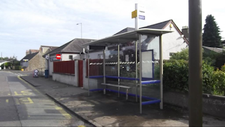 Relocated bus shelter on Balgillo Road, Broughty Ferry