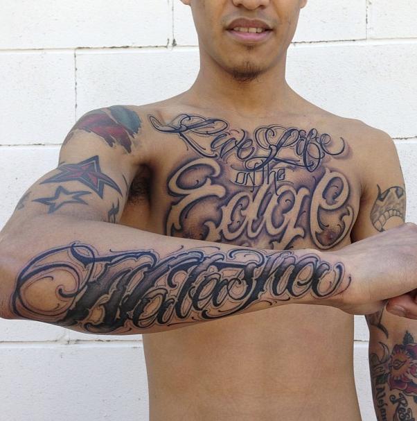 Tatuajes de letras por Justin Maes