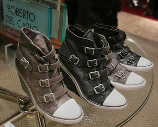 Roberto Del Carlo High-Top wedge sneakers.