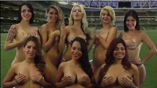 Venezuelan soccer, naked reporters, nude reporters