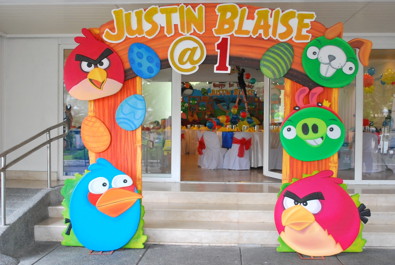 Kiddie party philippines for Angry birds party decoration ideas