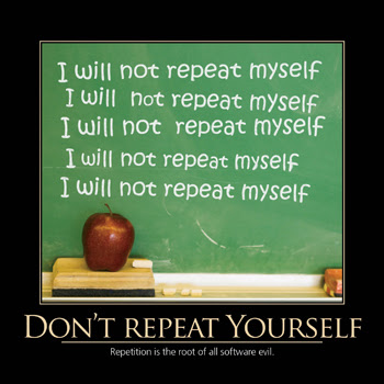 Why Repeat Yourself