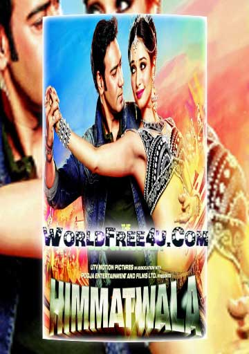 Poster Of Bollywood Movie Himmatwala (2013) 300MB Compressed Small Size Pc Movie Free Download worldfree4u.com