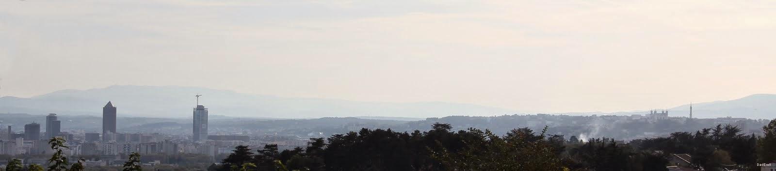 Lyon Quartier de la Part-Dieu et colline de Fourvière
