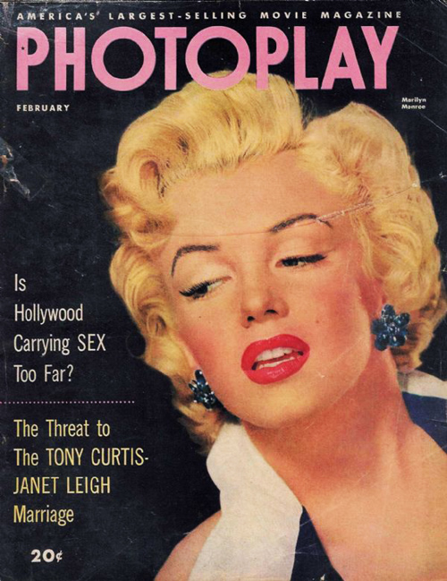 February 1953 Cover Of Photoplay Magazine
