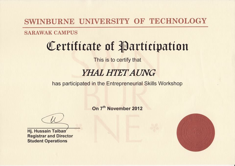 Certificate in Entrepreneurial Skills Workshop