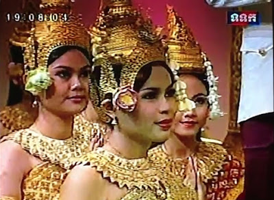 Khmer New Year play on Cambodian television