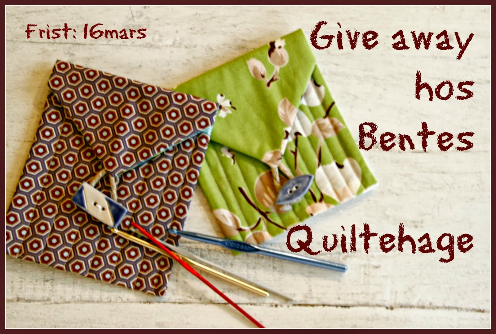Give away hos Bentes Quiltehage