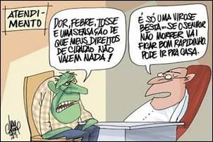 Crítica política. Gasto com saúde abaixo da média mundial.