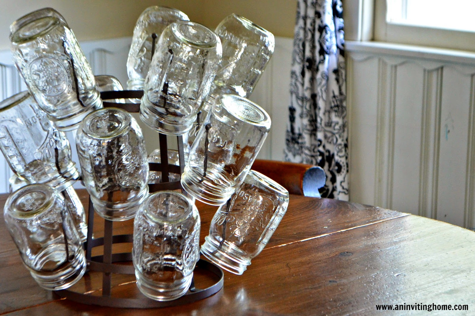 a mason jar vintage kitchen rack