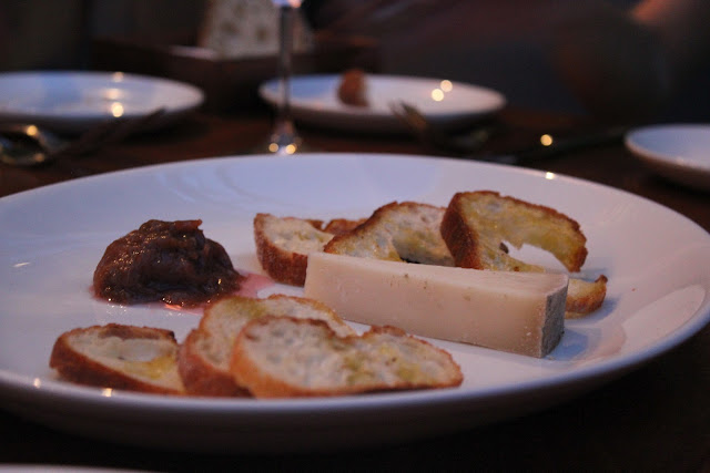 One perfect cheese at The Blue Room, Cambridge, Mass.