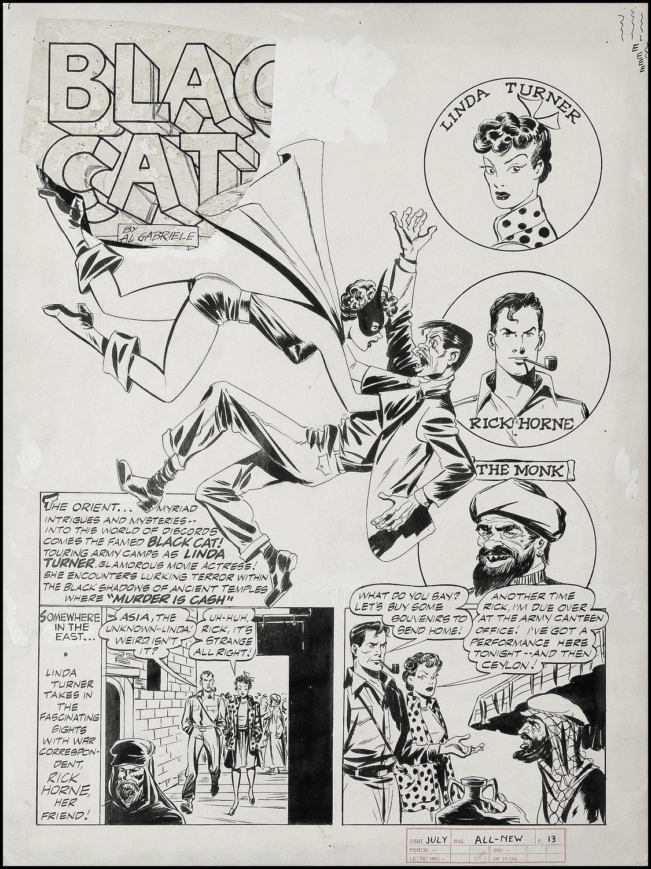 Al Gabrielle ? The Black Cat ? printed page 1940s