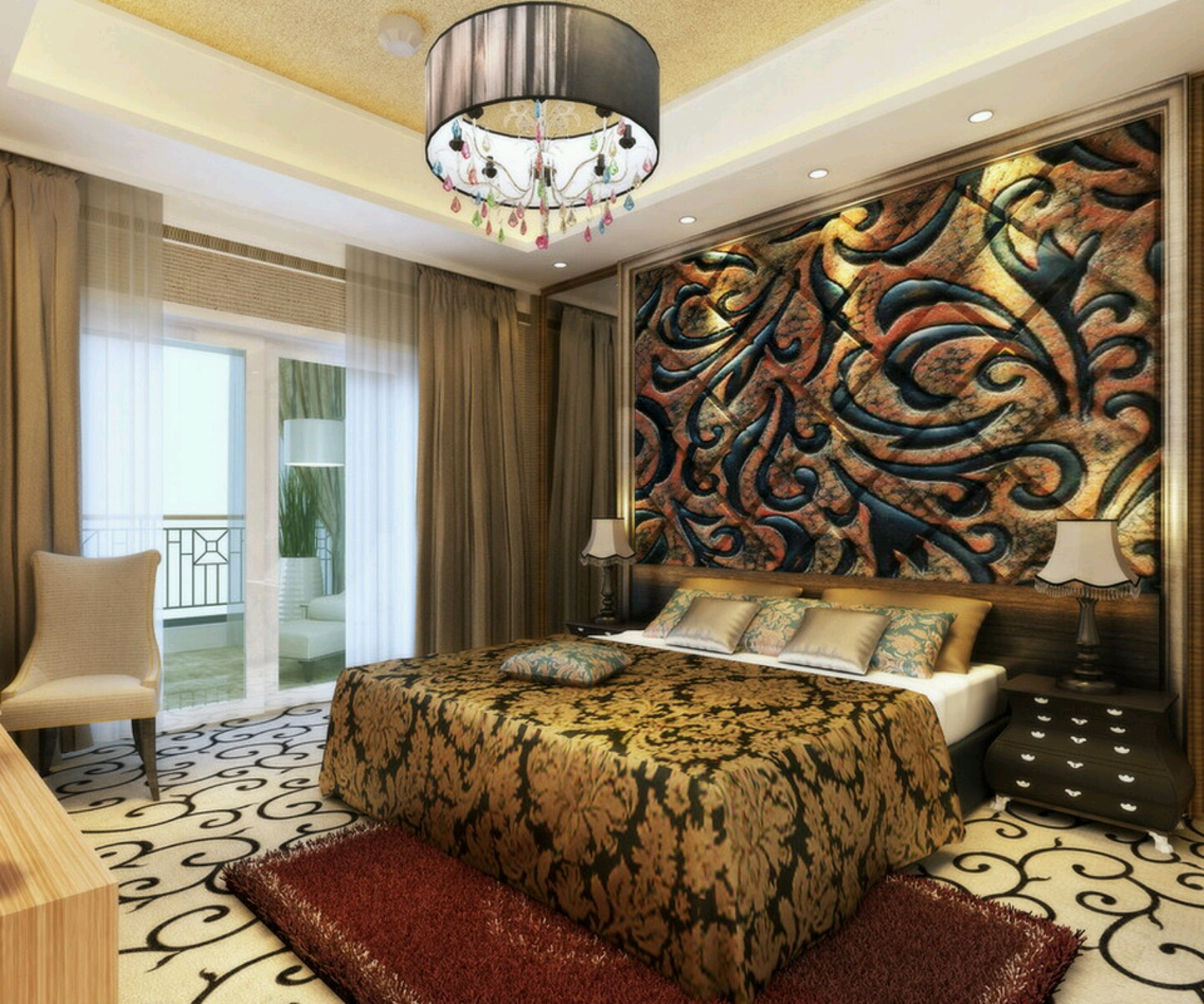 Modern beautiful bedrooms interior decoration designs Beautiful home interior designs