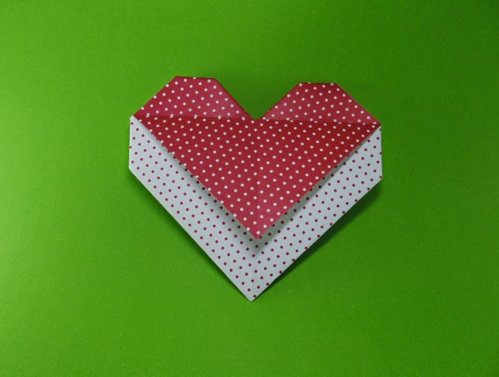 coração com recados origami