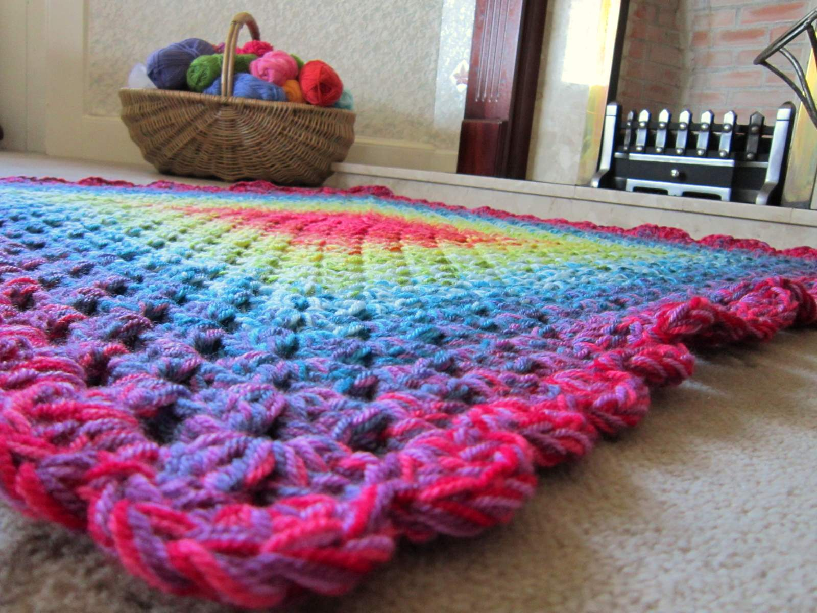 Colour In A Simple Life Graduated Granny Blanket