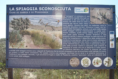 La Spiagga Sconosciuta Information Sign