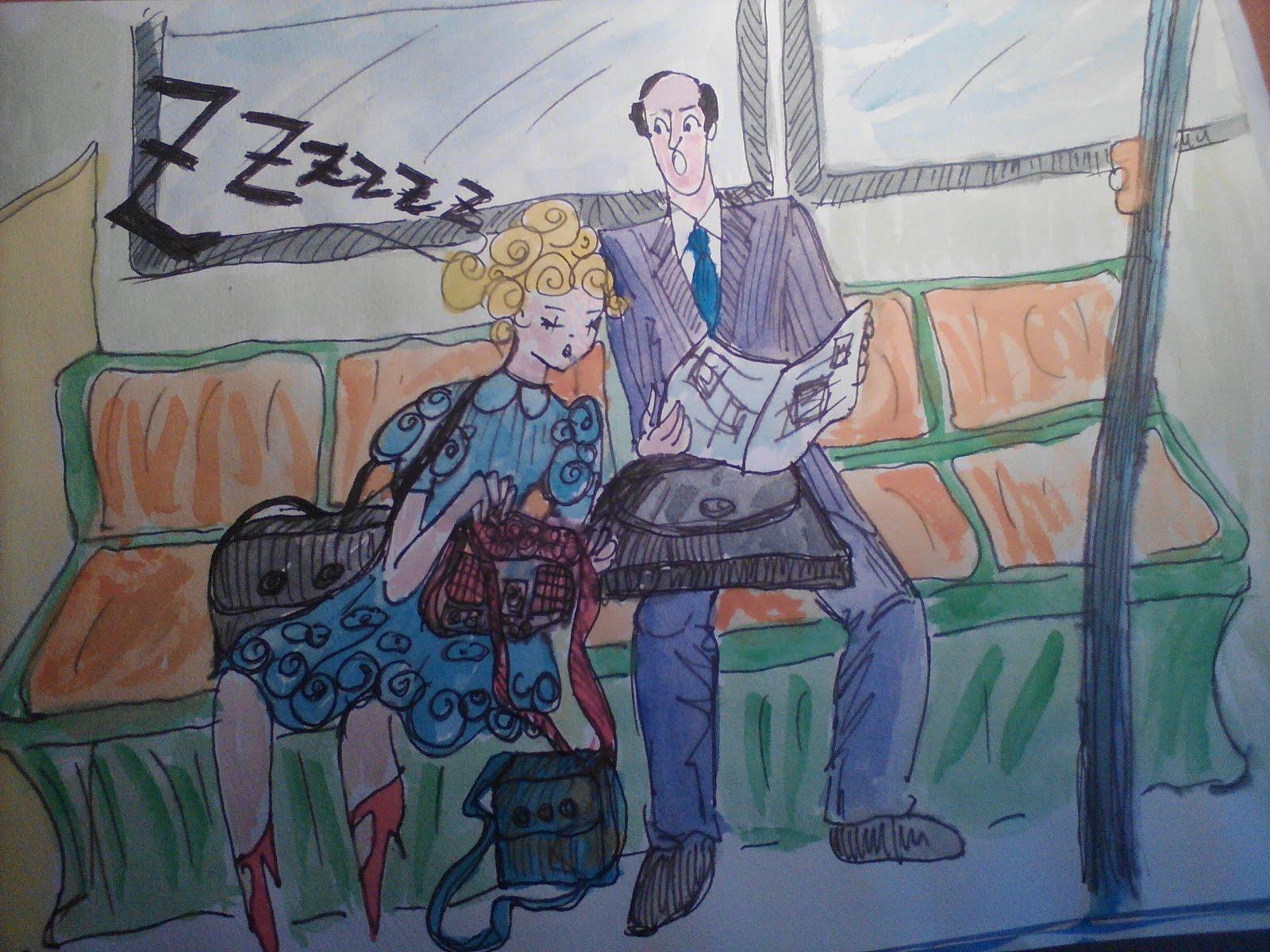 Durmiendo en el metro