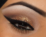 I used NYC black liquid eye liner to line the top lid fairly dramatically, .