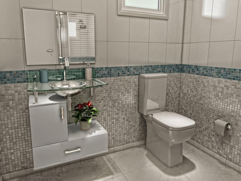 Dicas para decorar banheiros simples  pouco dim dim -> Banheiro Simples De Sitio
