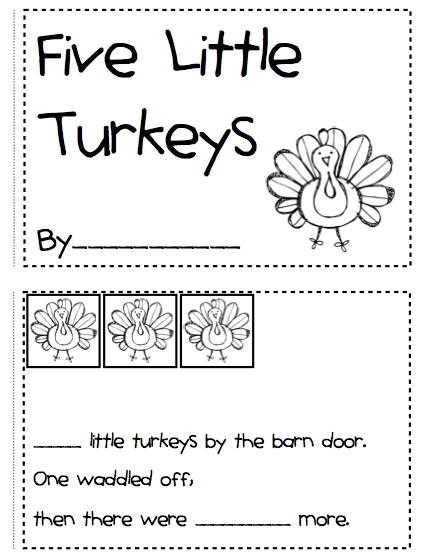Kindergarten Fever Thanksgiving Printables