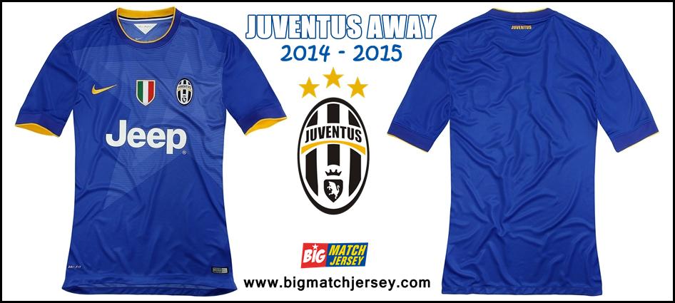 Jersey Juventus away jersey 2014-15 Bahan Polyester Dri-Fit Short Sleeve-tile