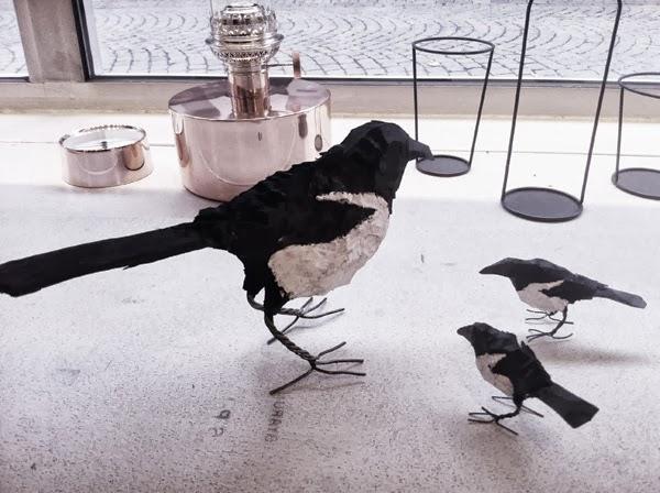 skator, fåglar, inredning, butik göteborg