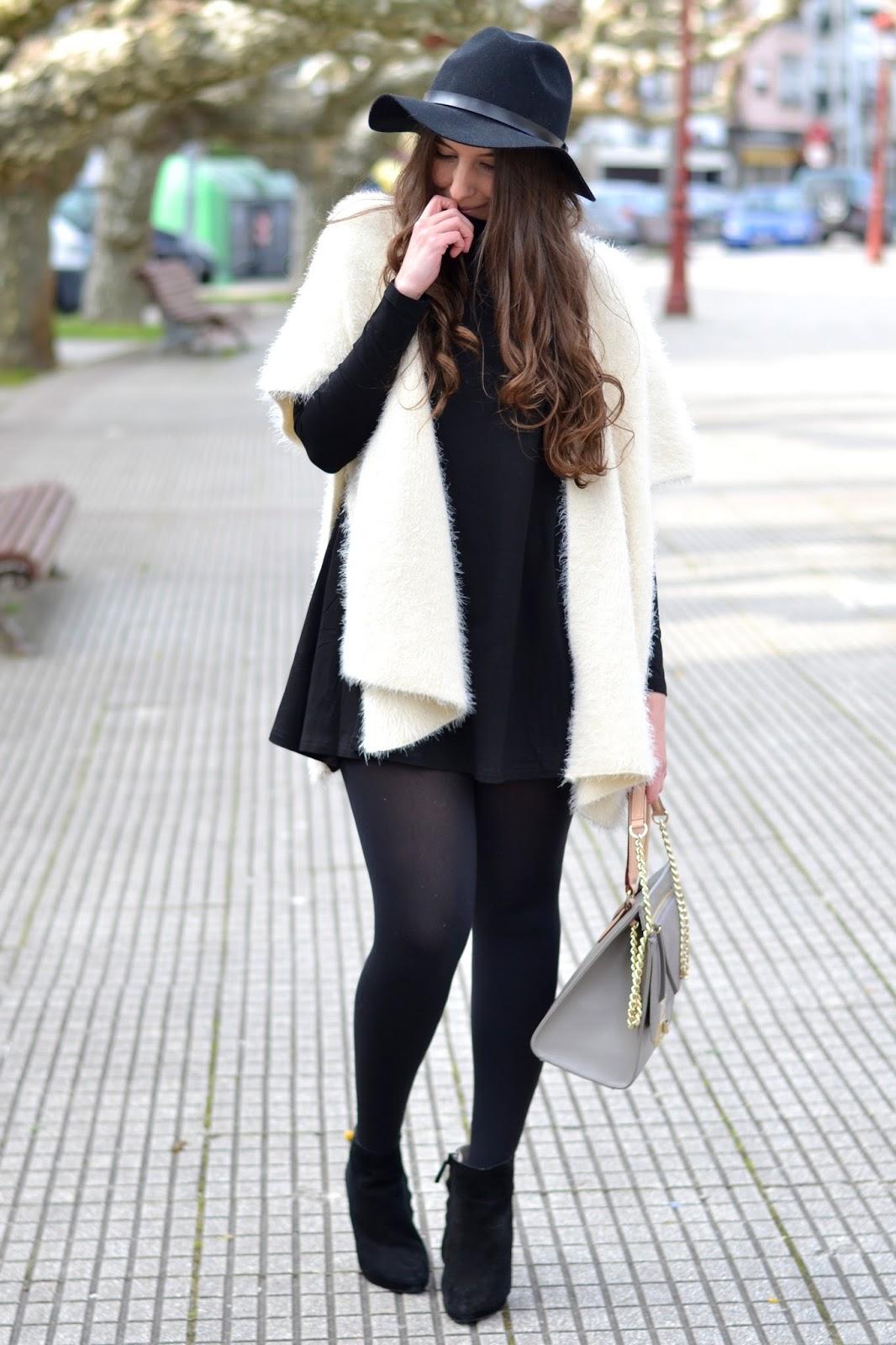 B&W dress cape