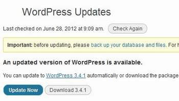 Wordpress 3.4.1  Updates