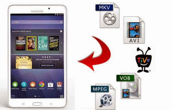 Enjoy MKV, AVI, VOB, Tivo, FLV, M2TS on Galaxy Tab 4 Nook