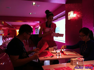 Barbie cafe ordering
