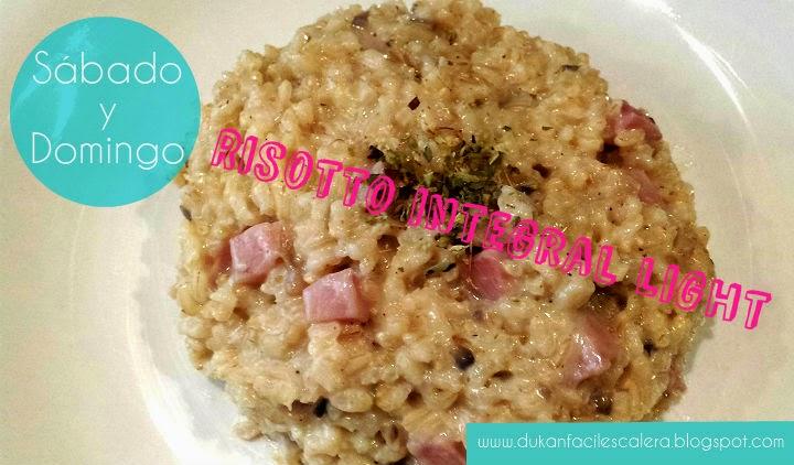 Receta para la nueva dieta suave de Dukan ,LA ESCALERA NUTRICIONAL,risotto integral light apta para el sábado y el domingo.