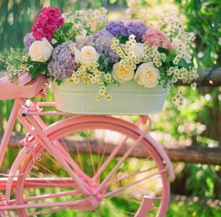 bicycles with flowers wallpaper - photo #38
