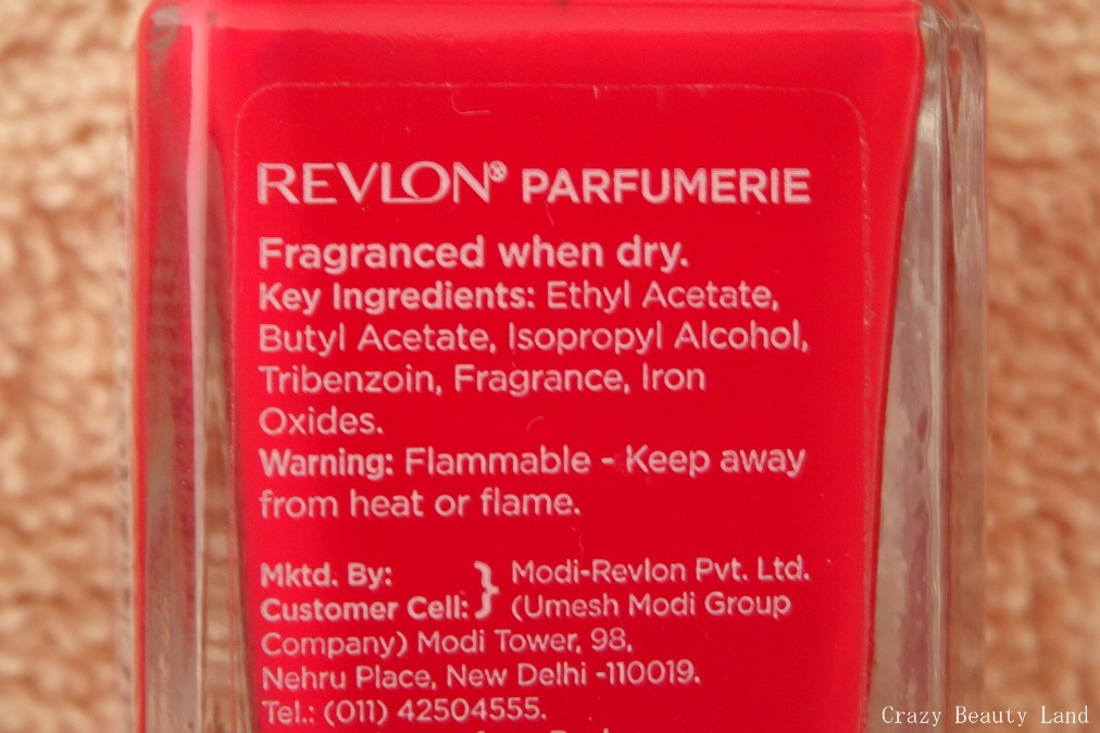 Bold Red - Revlon Parfumerie Perfume Scented Nail Enamel in China ...