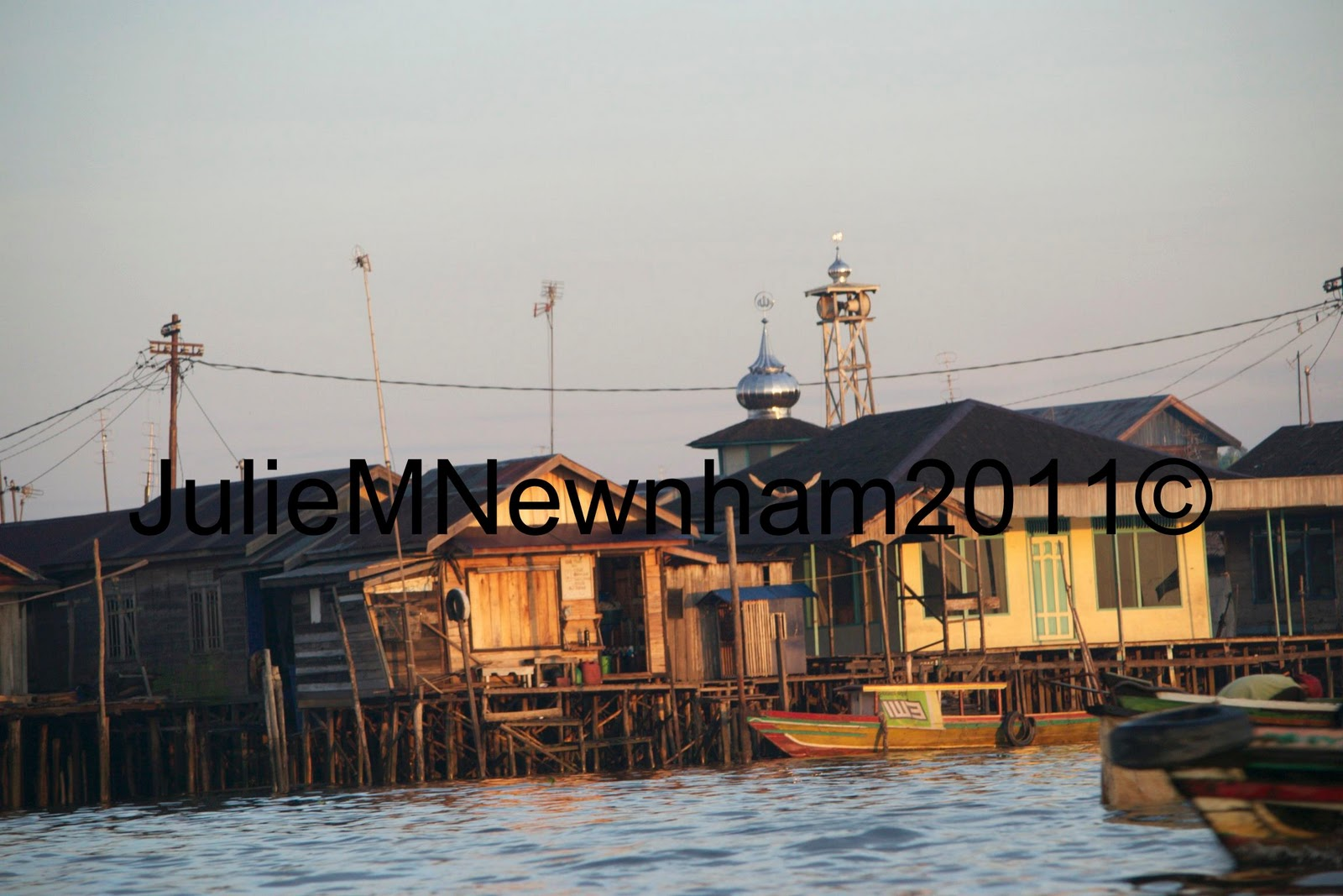 Banjarmasin Indonesia  City pictures : The ship in the background was bound for Surabaya but burnt down one ...