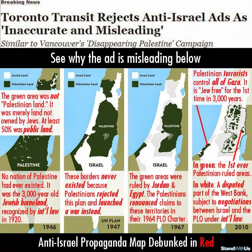Toronto rejects Anti-Israel Ads...