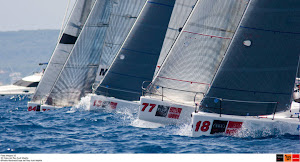 Yacht racing in Palma Bay