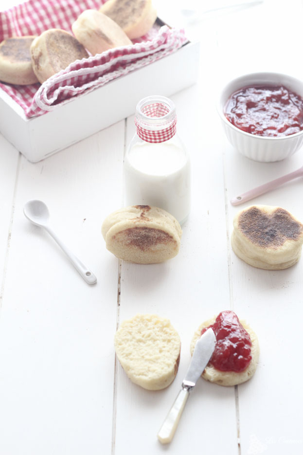 receta english muffins